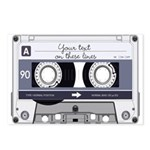 Customizable Cassette Tape - Grey Postcards (Packa