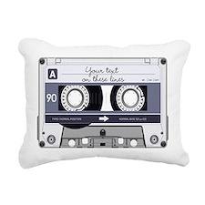 Customizable Cassette Ta Rectangular Canvas Pillow