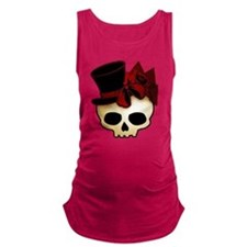 skull-hat-red_shaded.png Maternity Tank Top