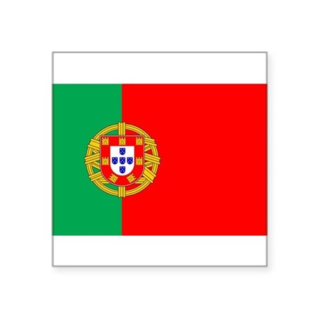 "portuguese_flag.gif Square Sticker 3"" x 3"""