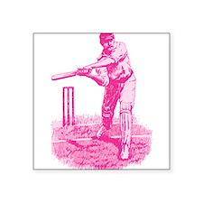 "cricket_pk.png Square Sticker 3"" x 3"""