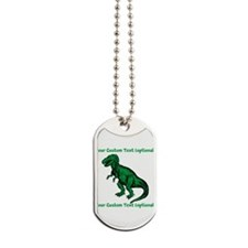 CUSTOM TEXT T-Rex Dog Tags