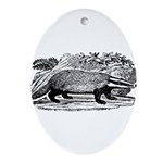 badger.png Ornament (Oval)