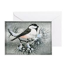 Black Capped Chickadee Bird Personaligreeting Card