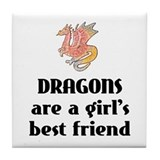 Dragon Girl Tile Coaster