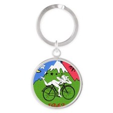 Bicycle Day Round Keychain