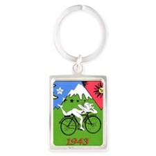 Bicycle Day Portrait Keychain