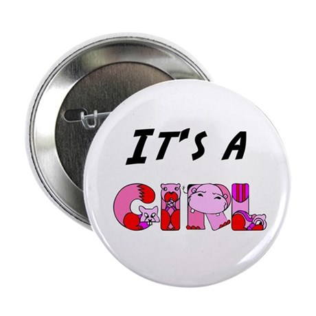 "It's a GIRL 2.25"" Button (100 pack)"