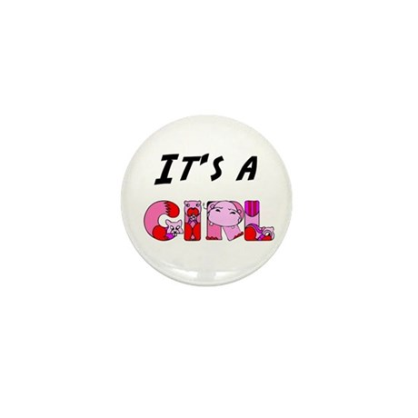 It's a GIRL Mini Button (100 pack)
