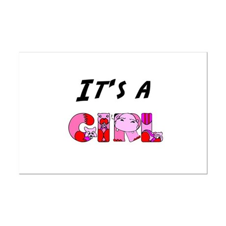 It's a GIRL Mini Poster Print