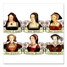 "wives2.png Square Car Magnet 3"" x 3"""