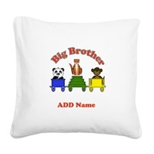 Big Brother Zoo Square Canvas Pillow