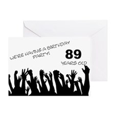 89th birthday party invitation Greeting Card