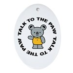 Cute Koala Ornament (Oval)