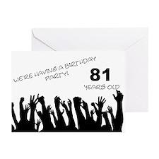 81st birthday party invitation Greeting Cards (Pk