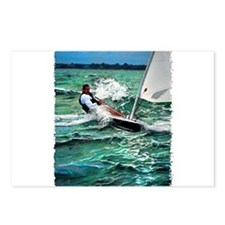 Laser Sailboat Postcards (Package of 8)