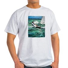 Laser Sailboat Ash Grey T-Shirt