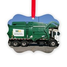 garbage truck love Ornament