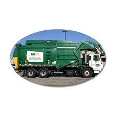 garbage truck love Wall Decal