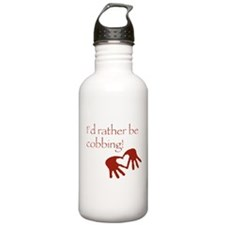 rather be cobbing Water Bottle