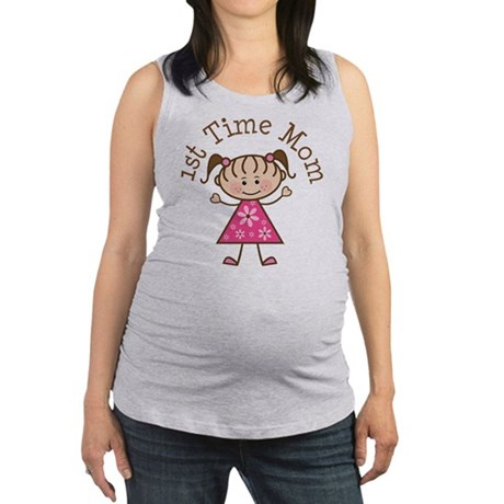 1st time Mom pink stick girl.png Maternity Tank To