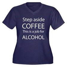 Step aside Coffee BW Women's Plus Size V-Neck Dark