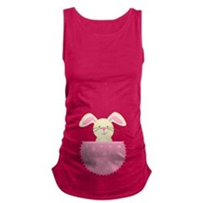 Easter Baby Bunny Belly Print Maternity Tank Top