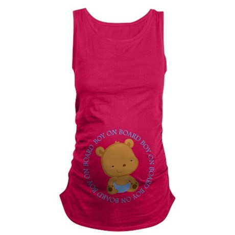 boy on board teddy bear.png Maternity Tank Top