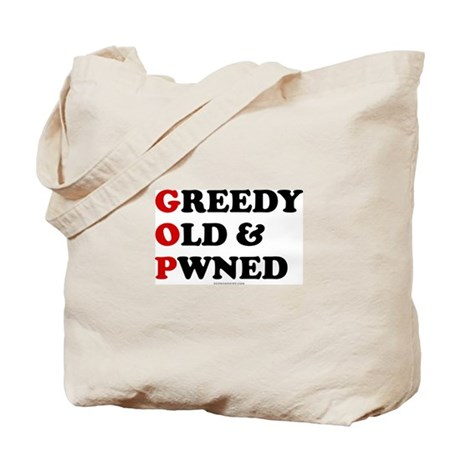 Greedy Old & Pwned Tote Bag
