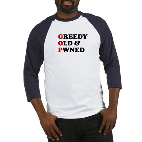 Greedy Old & Pwned Baseball Jersey