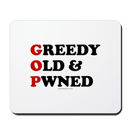 Greedy Old & Pwned Mousepad