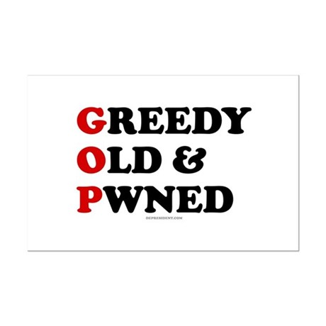 Greedy Old & Pwned Mini Poster Print