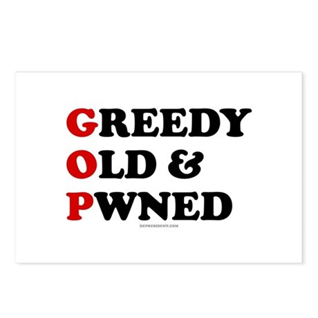 Greedy Old & Pwned Postcards (Package of 8)