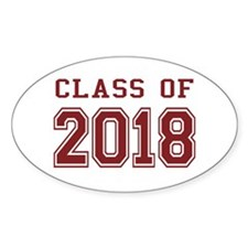 Class of 2018 (Red) Decal
