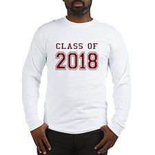 Class of 2018 (Red) Long Sleeve T-Shirt