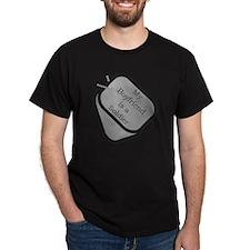 My Boyfriend is a Soldier dog tag T-Shirt