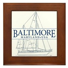 Baltimore Sailboat - Framed Tile