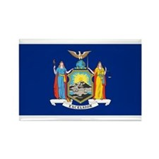 New York Flag Rectangle Magnet