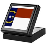 North Carolina Flag Keepsake Box