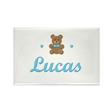 Teddy Bear - Lucas Rectangle Magnet