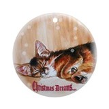 "Somali ""Christmas Dreams"" Ornament (Round)"
