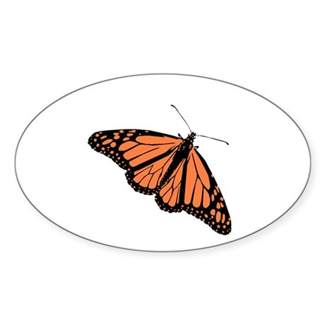 Butterfly Oval Sticker