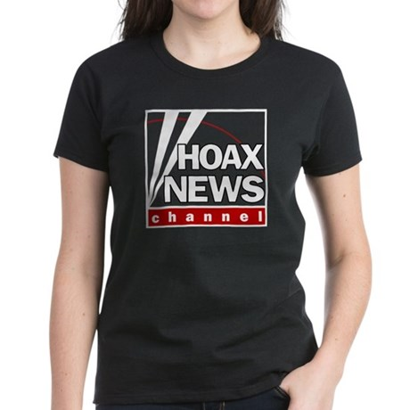 Hoax News Womens Black T-Shirt