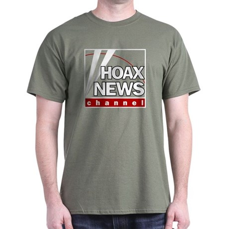 Hoax News Military Green T-Shirt