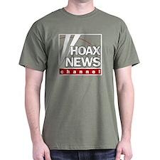 Hoax News Military Green T-Shirt