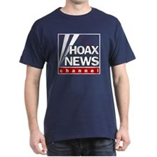 Hoax News Navy T-Shirt