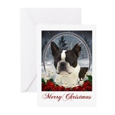 Boston Terrier Christmas Cards (Pk of 20)