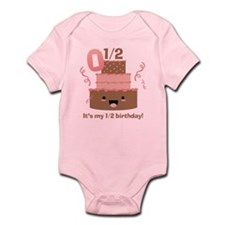 Kawaii Cake 1/2 Birthday Infant Bodysuit