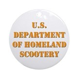 Homeland Scootery Ornament (Round)