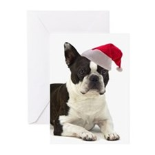 Santa Boston Terrier Cards (Pk of 20)